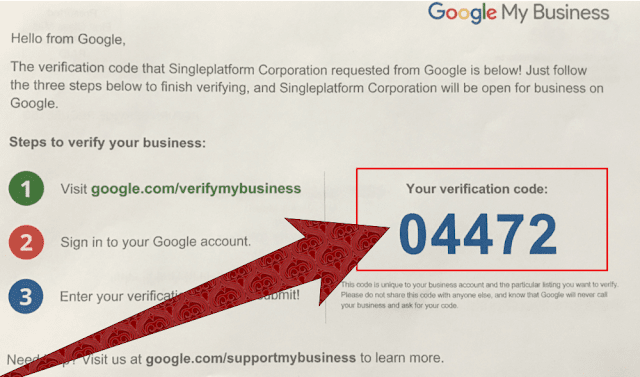 Google My Business VerifiCATION Pin