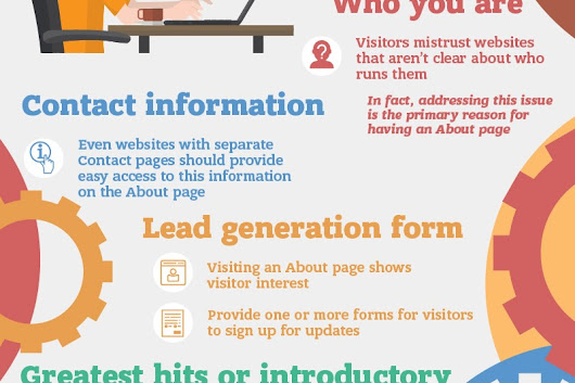 How to Create an Awesome About Page [infographic]