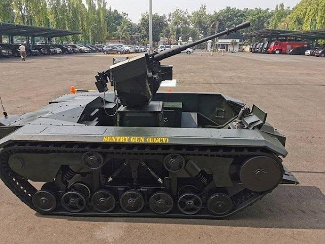 Balitbang Kemhan Kembali Lakukan Uji Fungai Sentry Gun Pada Ranpur Robotik