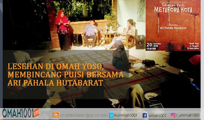 Lesehan di Omah Yoso, Membincang Puisi Bersama Ari Pahala Hutabarat