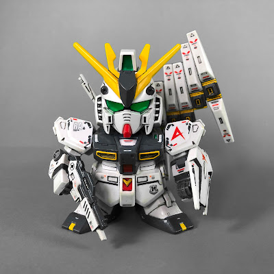 Painted G Generation-F SD BB Senshi RX-93 Nu Gundam Front View