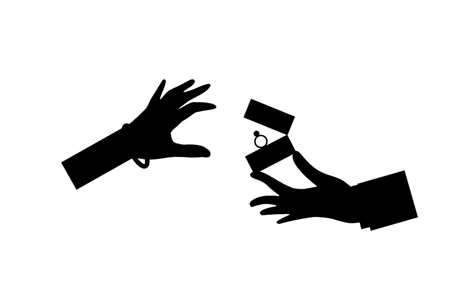 Illustration of wedding rings silhouette