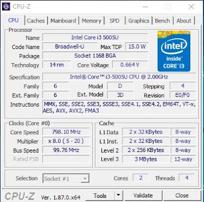 Cara Melihat Spesifikasi Laptop dengan CPU-Z