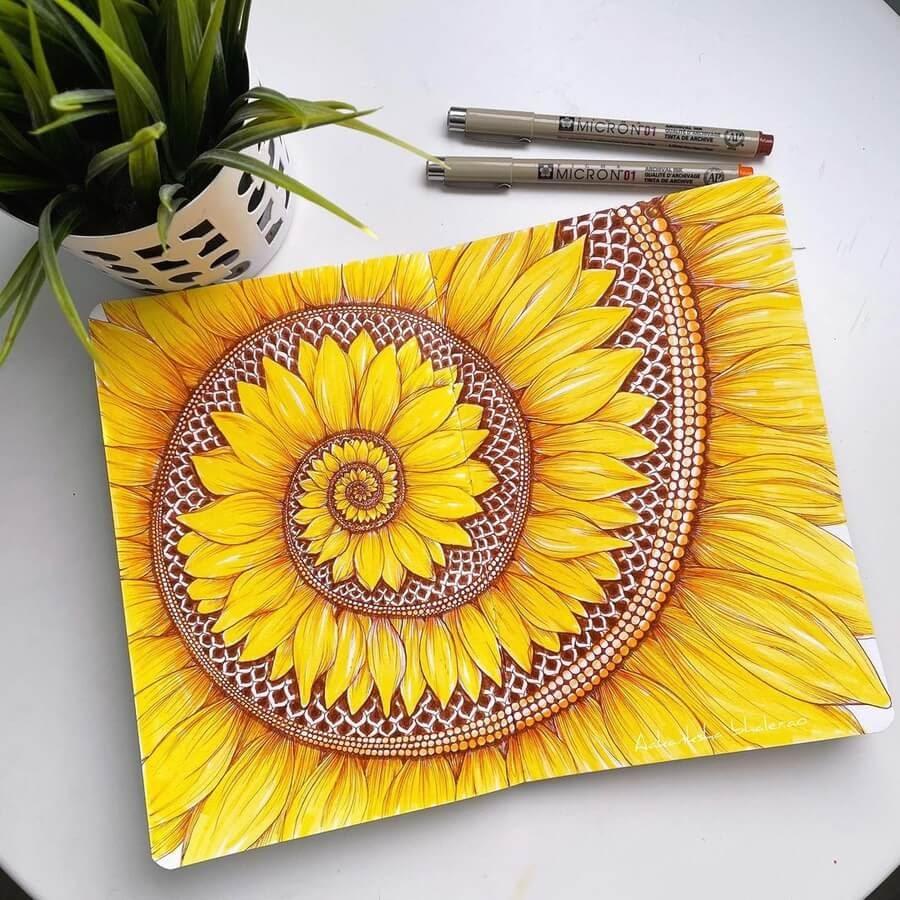 04-Sunflower-spiral-Aakanksha-Bhalerao-www-designstack-co