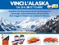 Logo Pam Panorama ''Vinci una vacanza in Alaska'' o 1 weekend a Venezia