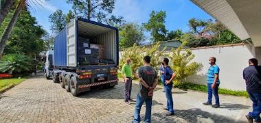 NOTÍCIAS: Carregamento de material para o Brasil
