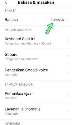 Cara mengganti bahasa hp Xiaomi