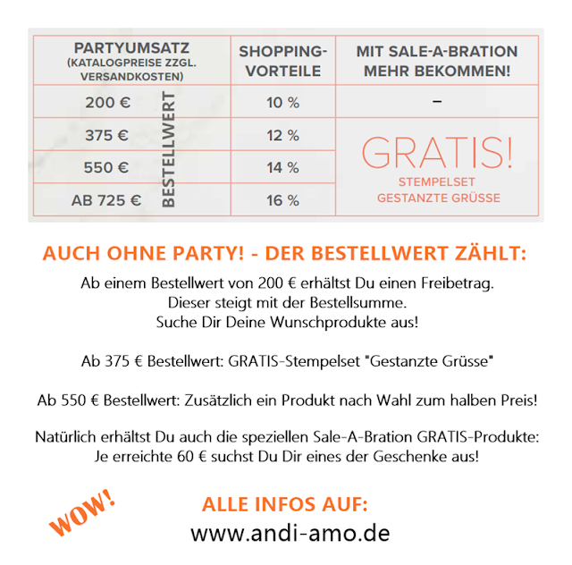 Stampin Up Shopping-Vorteile Gratis Stempelset
