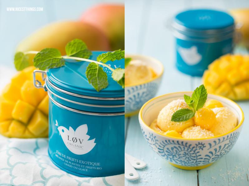 Mango Mousse rezept mit Eistee Sirup von Lov Organic