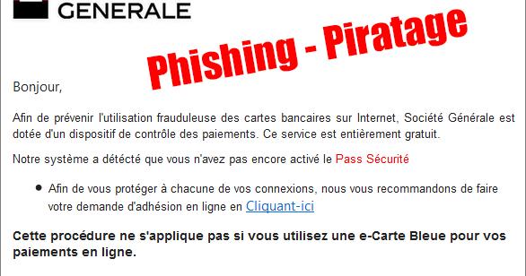 soci t g n rale phishing piratage par e mail. Black Bedroom Furniture Sets. Home Design Ideas
