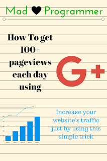 "picture of notepad displaying ""how to increase website traffic using G+"""
