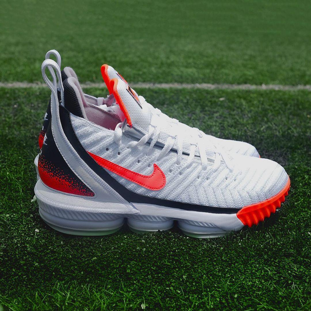 best website b8723 aa746 Nike Lebron 16 Hot Lava White | Analykix