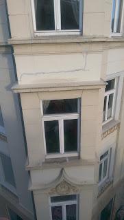 Fassadeninspektion Kontrolle Stuckfassade Altbau Fassade Hublift Hebebühne Belz Bonn
