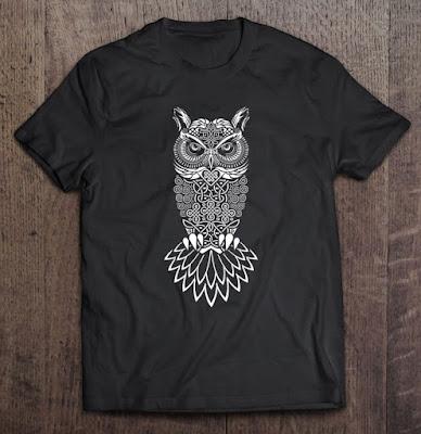 owl tattoo designs - t-shirt