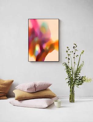 """Ricki Mountain""-Art by Ricki- Abstract Art- Framed Fine Art"