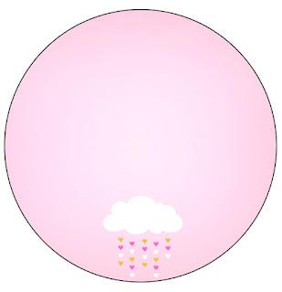 Toppers o Etiquetas de Lluvia de Bendiciones para Nena para imprimir gratis.