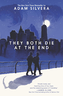 Two teenage guys walk along a moonlit bridge at night, their shadows form a figure with a scythe.