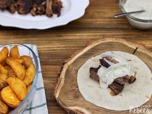 Tacos de costilla ibérica