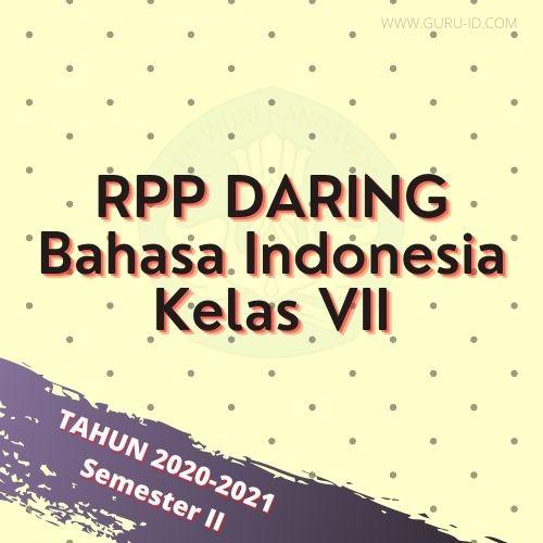 gambar rpp daring bahasa indonesia smester genap