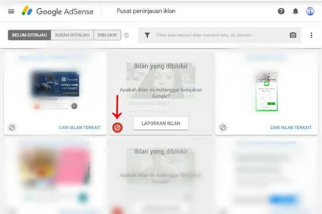 cara blokir unit iklan adsense cpc rendah
