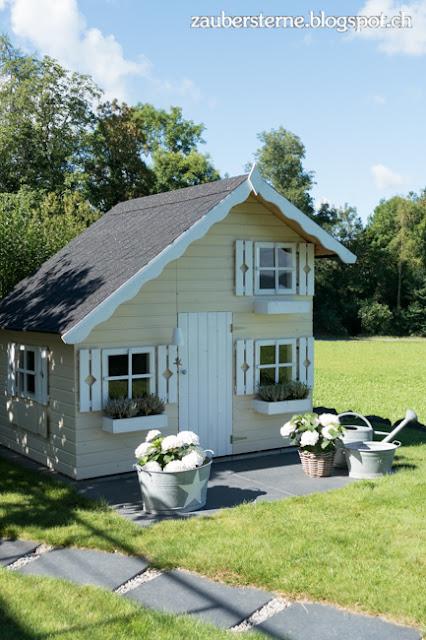 Kinderspielhaus, Spielhaus Tom, Kinderhaus, Kreativblog Schweiz, DIY Haus, Gartenhaus