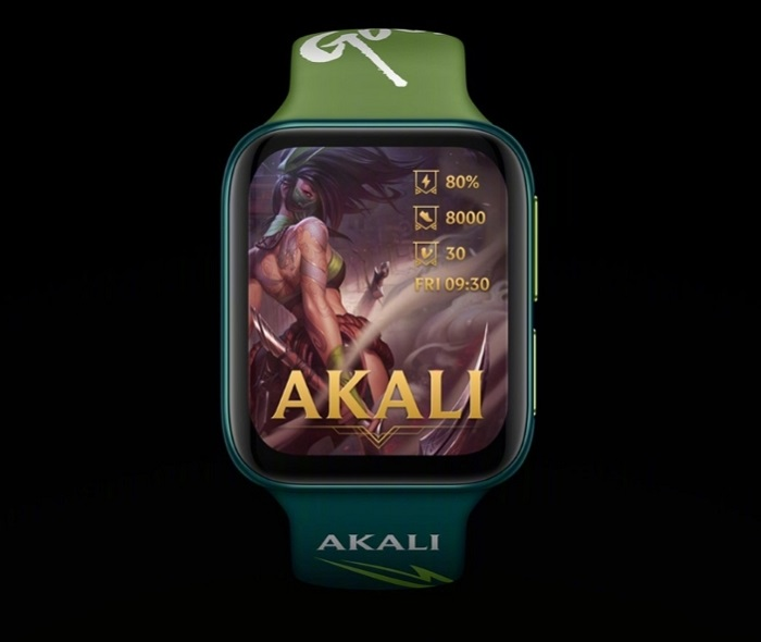 Oppo Watch-League of Legends Akali Edition Watch Face