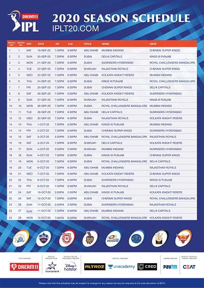 Ipl 2020 matches schedule । IPL schedule 2020 । Ipl ka pehla match kis team ka h । First match of ipl । IPL news in hindi । Ipl match schdule.