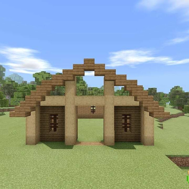 Minecraft Barn Schematic | How to build a barn