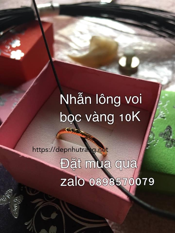 Nếu mua nhẫn vàng lông voi, bạn nên mua loại 10K xịn, và đặt xưởng Đẹp như Trang làm là yên tâm nhất