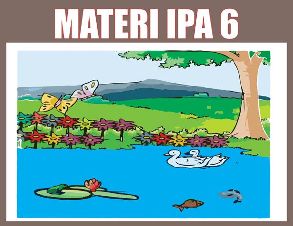 Materi IPA Kelas 6 pdf Semester 1 dan 2