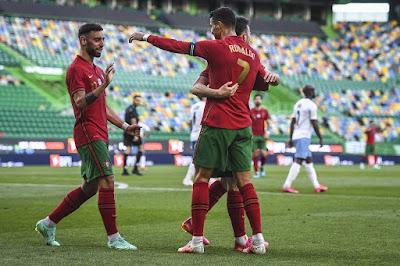 युरोकपको वार्मअप खेलमा इजरायलमाथि पोर्चुगलको सहज जित, रोनाल्डोको १ सय ४ गोल पुरा ।