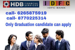 Urgent Hiring for Banking Sector in HDFC Bank , IDFC first Bank and Fincare small Finance Bank