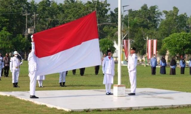 Upacara HUT RI di Tanjungbalai Sesuai Protokol Kesehatan COVID-19