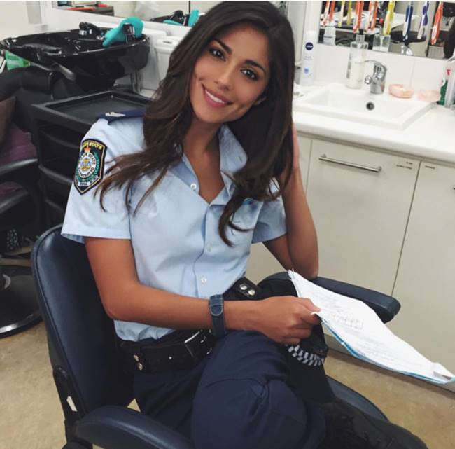 The most beautiful police girls from Australia