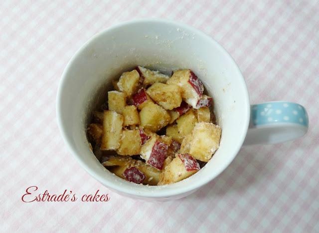receta de crumble de manzanas al microondas 2
