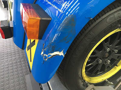Cracked rear wing on my Caterham Academy Car