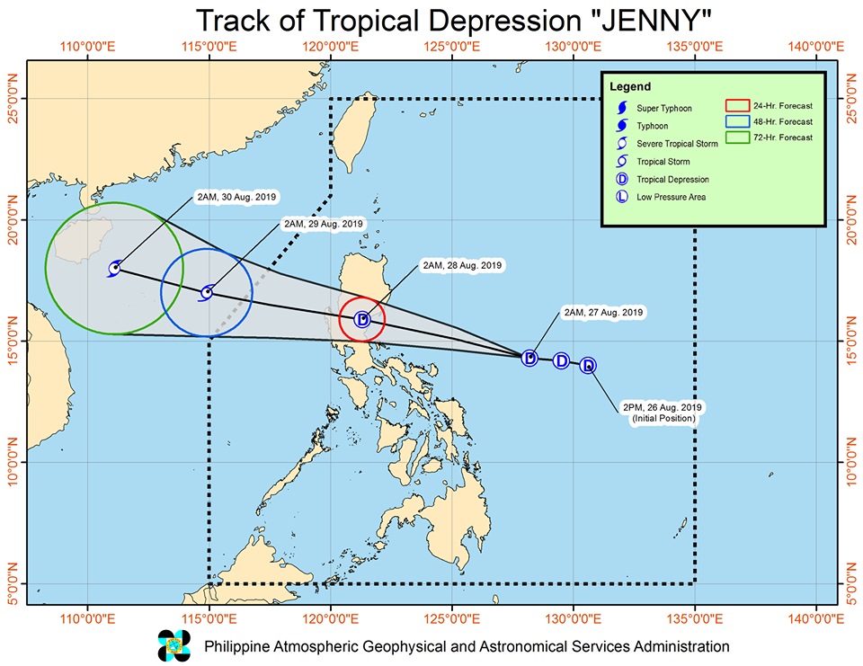 'Bagyong Jenny' is expected to exit the Philippine Area of Responsibility (PAR) on Thursday morning