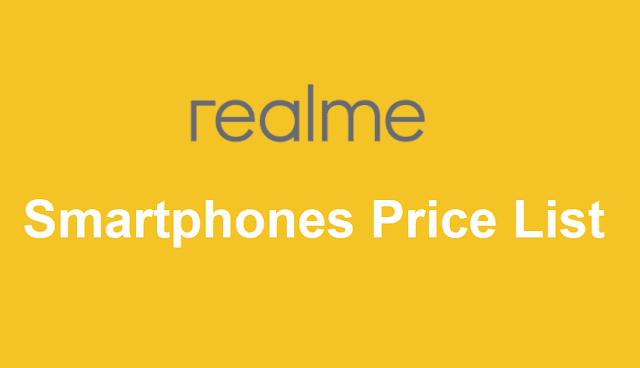 Realme Smartphones Price List