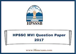 HPSSC Motor Vechile Inspector Question Paper 2017