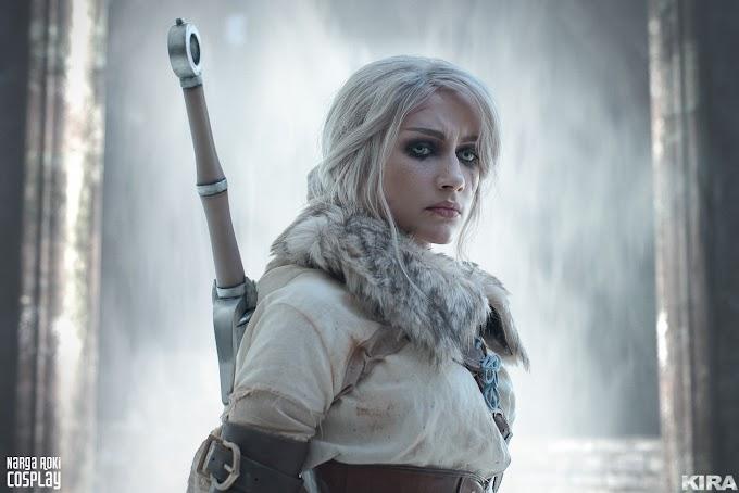 Narga con su cosplay de Ciri