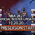 NBA 2K21 OFFICIAL ROSTER UPDATE 12.20.20 LATEST TRANSACTION PLUS ADDED MORE JERSEYS - OFFICIAL PRESEASON