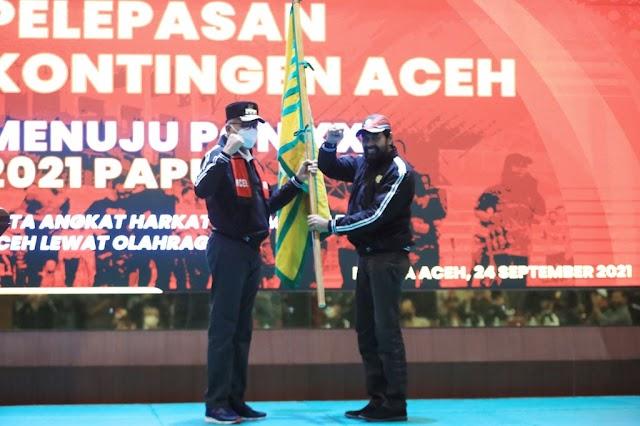 Gubernur Lepas Kontingen PON XX Papua
