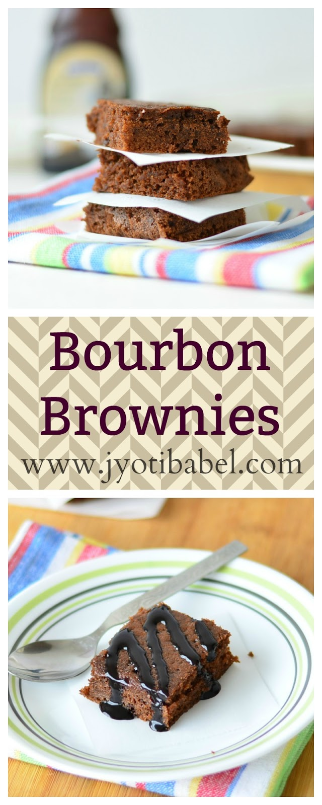 Bourbon Biscuit Brownies | A simple quick-fix brownie recipe where bourbon biscuits is the star ingredient. www.jyotibabel.com
