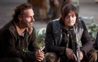 Foto de Daryl e Rick nos bastidores