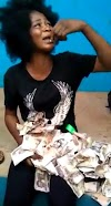 Lady Caught Trying To Deposit N200k Fake Currency Notes At A POS Location In Benin City, Edo State (Video)