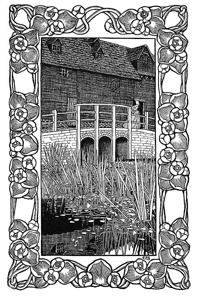 Eleanor Fortescue Brickdale illustration with decorative frame