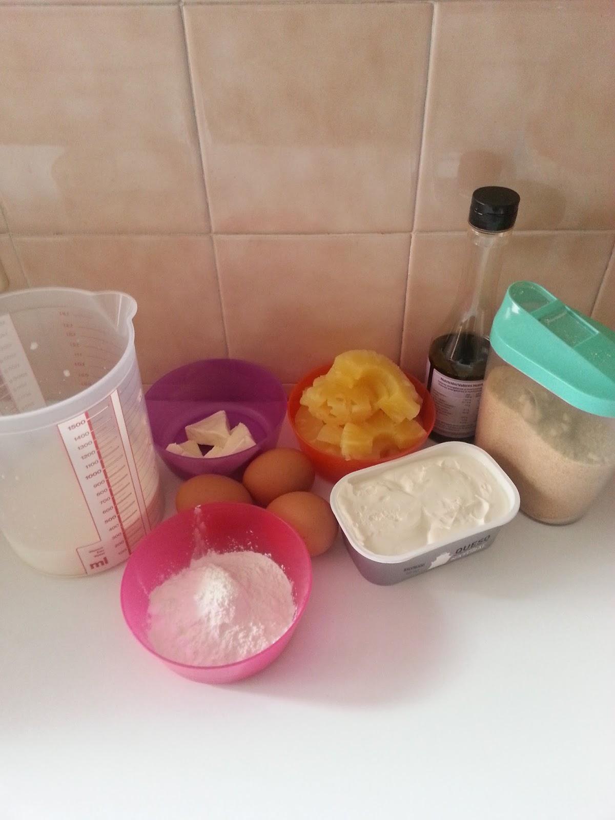 Cocinando con la family flan de queso y pi a sin gluten - Cocinando con microondas ...