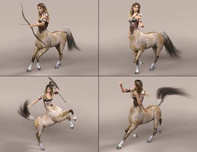 Gladiatrice Poses for Centaur 7 Female