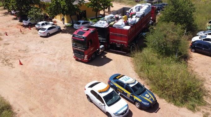 PRF e SET apreendem caixas de cervejas sem nota fiscal em Mossoró/RN