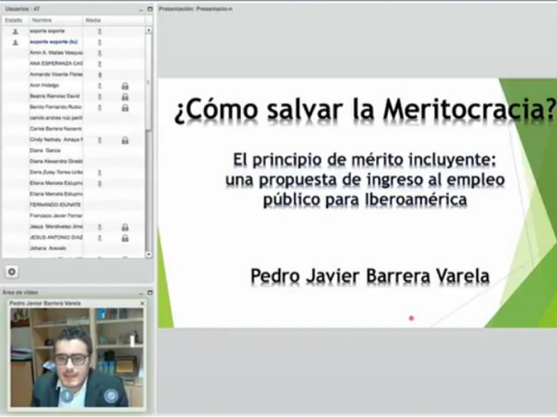 Ponencia virtual ¿Cómo salvar la meritocracia?